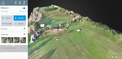 Image of drone mapping.